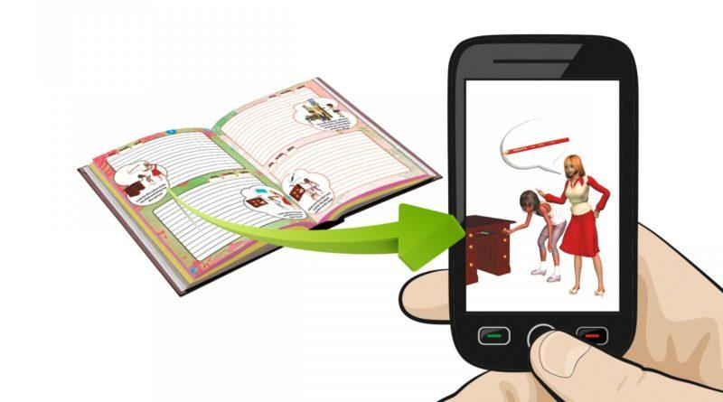 Agenda escolar con programa bilingue y con Realidad Aumentada