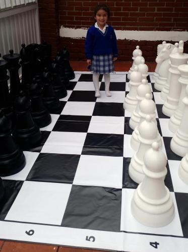Ajedrez gigante, ajedrez grande para jardín o patio