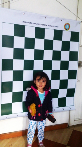 Tablero mural de ajedrez magnético para enseñanza