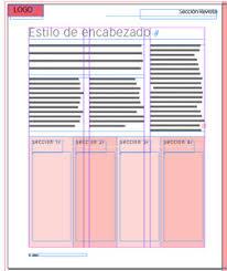 Servicio de diagramación, establecer encabezados y títulos