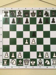 magnetic chess board mural for teaching