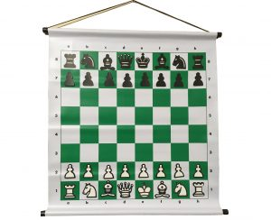 Tablero de ajedrez mural magnético para enseñanza