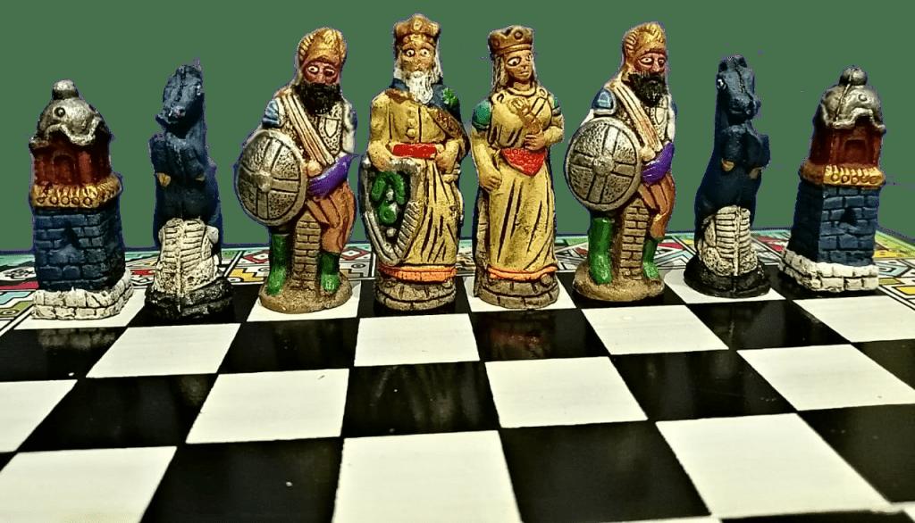 tablero de ajedrez personalizado temático de Españoles contra indígenas
