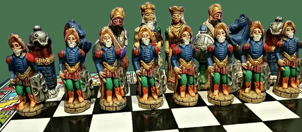 ajedrez personalizado temático de Españoles contra indígenas