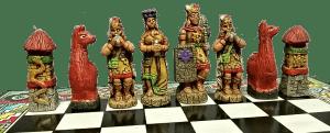ajedrez temático españoles e indígenas