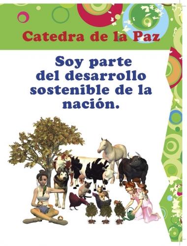 Cátedra de la paz con actividades y 12 temáticas fundamentales tradas a profundidad